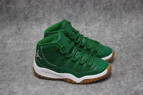 nike air jordan xi  retro green basketball shoes sepsale