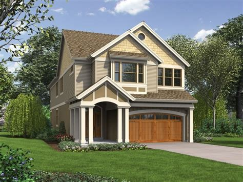 Narrow Cottage Plans by Narrow Lot House Plans With Garage Best Narrow Lot House