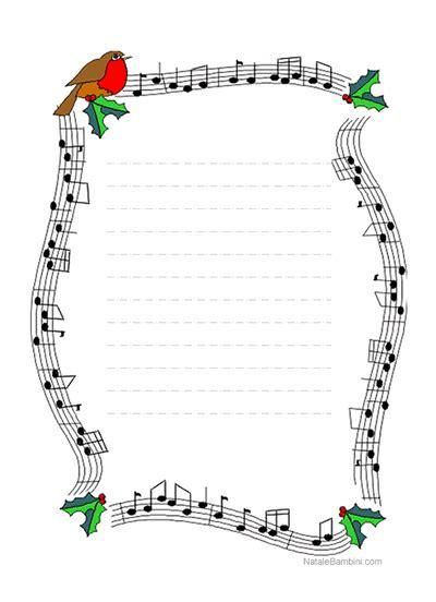 Cornice Natalizia Word Letterina Di Natale Con Decorazioni Lettera Auguri
