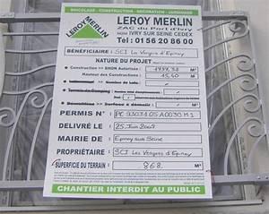 Panneau Permis De Construire Leroy Merlin