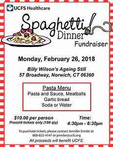 Spaghetti Dinner Fundraiser - United Community & Family ...