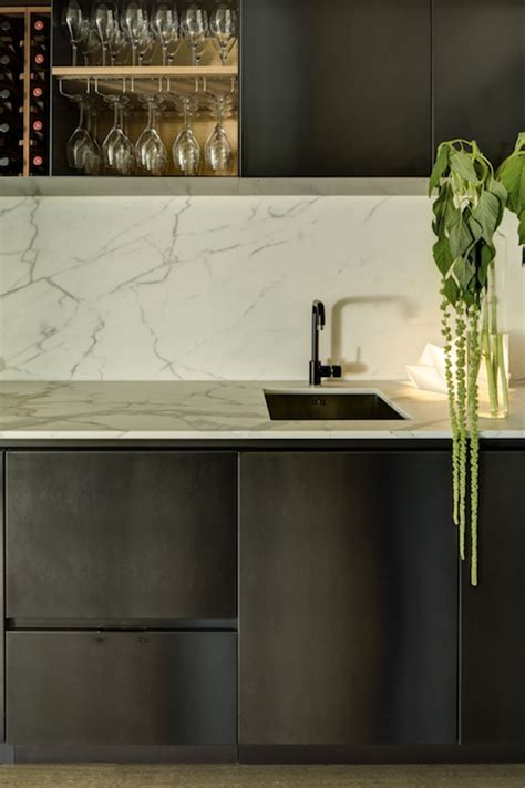 Chic Wet Bar   Contemporary   basement   Refined LLC