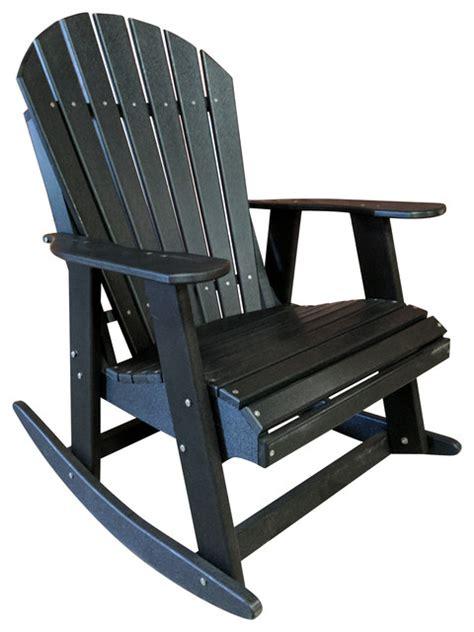 poly lumber adirondack rocking chair traditional