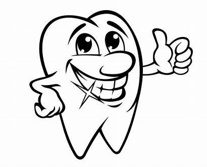 Teeth Tooth Cartoon Mouth Smile Coloring Smiling