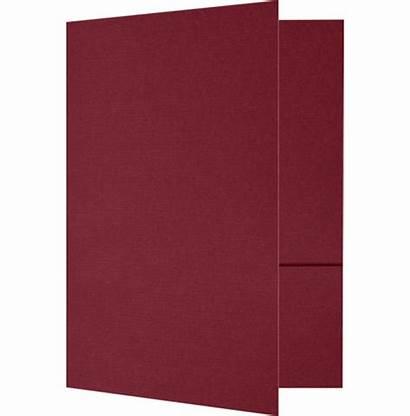 Presentation Folders Linen Burgundy