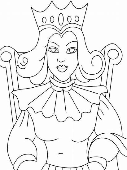 Queen Coloring Pages Colouring Printable Printables Recommended