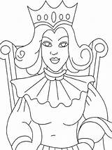 Queen Coloring Pages Printable Colouring Print Printables Recommended Medieval Colors Template Mycoloring sketch template