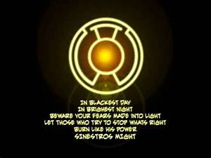 Sinestro Corps Oath - YouTube
