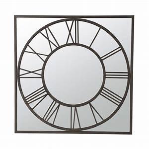 Miroir Metal Noir : miroir en m tal noir h 119 cm aquilain maisons du monde ~ Teatrodelosmanantiales.com Idées de Décoration