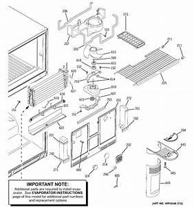 Freezer Section Diagram  U0026 Parts List For Model