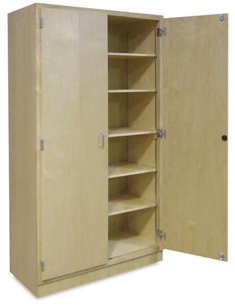 storage cabinets hann hardwood storage cabinet blick materials Large