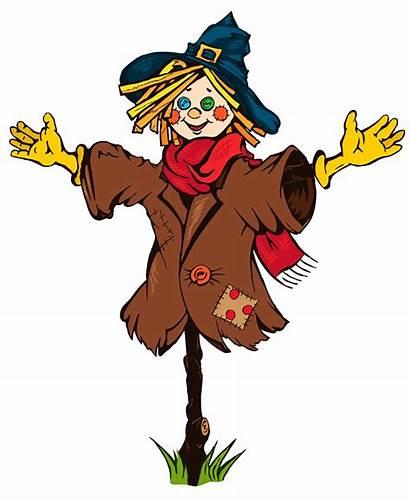 Scarecrow Clipart Clip Halloween Scary Pumpkin Scarecrows