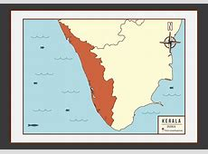 Kerala Map Illustration Vector Download Free Vector Art