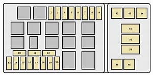Toyota Land Cruiser  1998 - 1999  - Fuse Box Diagram