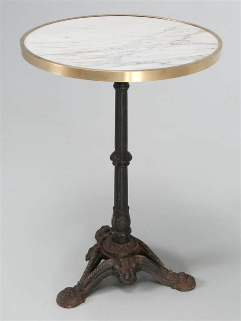 vintage french marble bistro table   stock   plank