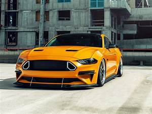 Desktop wallpaper yellow ford mustang gt, 2020, hd image, picture, background, ae53cb