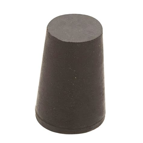 everbilt 1 1 4 in x 1 in black rubber stopper 808278 the home depot