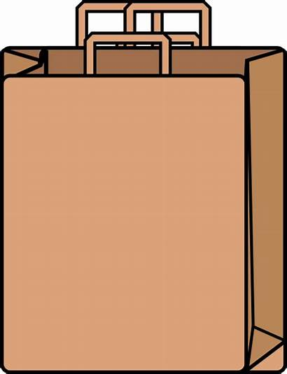 Bag Paper Clip Brown Clipart Grocery Sack