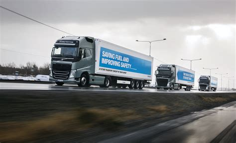 volvo trucks europe volvo trucks on a european tour for platooning