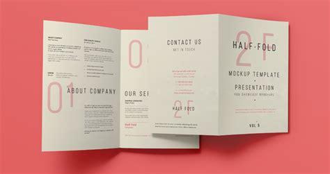 Half Fold Brochure Template Word by Psd Bi Fold Mockup Template Vol5 Psd Mock Up Templates