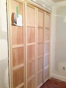 Paneled bi fold closet door diy room for tuesday for Build bifold doors