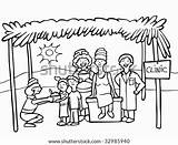 Missionaries Poor Line Feeding Refugee Vector Clip Illustrations Charity Shutterstock Camp Vectors Similar sketch template