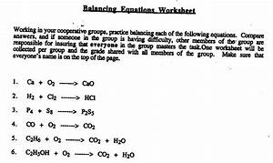 Cp Chemistry Balancing Equations Worksheet Answers