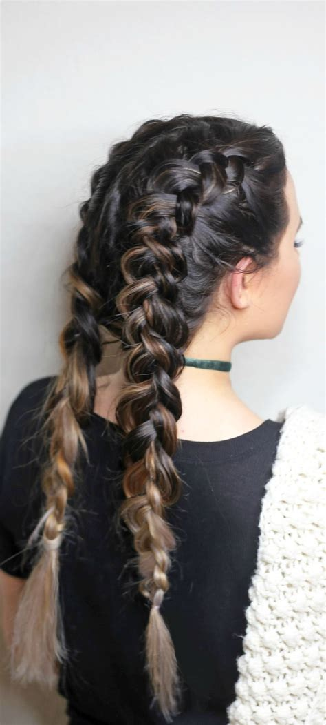 dutch braids  beginners french braid pigtails