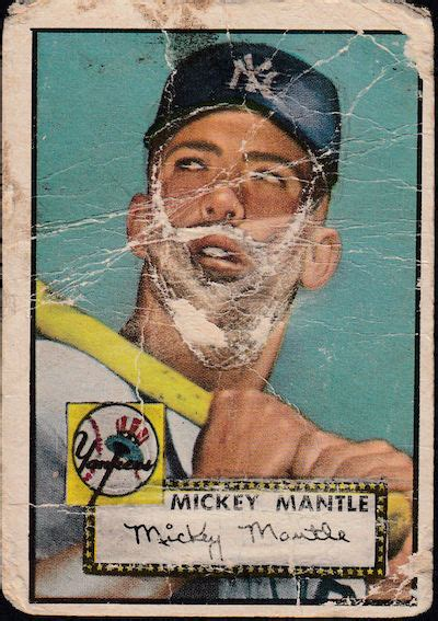 topps mickey mantle rookie card poor wax pack gods