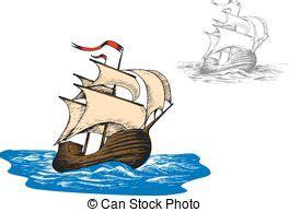 Barco De Vela Antiguo Dibujo by Ilustraci 243 N Vectorial De Barcos Antiguo Vela Conjunto
