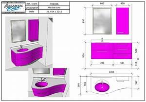 Plan 3d Salle De Bain : un meuble galb brillant et design atlantic bain ~ Melissatoandfro.com Idées de Décoration