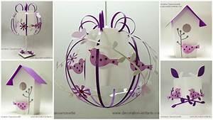 Luminaire Bébé Fille : luminaires chambre fille blanc et violet fabrique casse noisette ~ Teatrodelosmanantiales.com Idées de Décoration