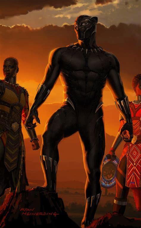 black panther  artwork full hd wallpaper