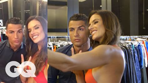 the of alessandra ambrosio s gq issue shoot with cristiano ronaldo gq
