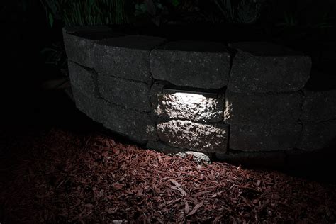 led hardscape lighting 8 quot deck step and retaining wall