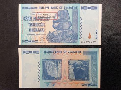 zimbabwe  trillion dollar bank note uncirculated  series aa p