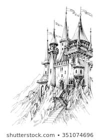 castle drawing images stock  vectors shutterstock