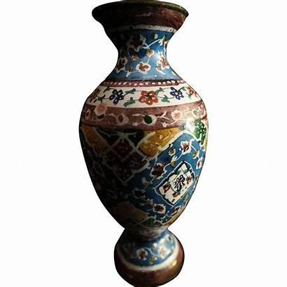 Cloisonne Chinese Antique Miniature Doll Vase Pattern