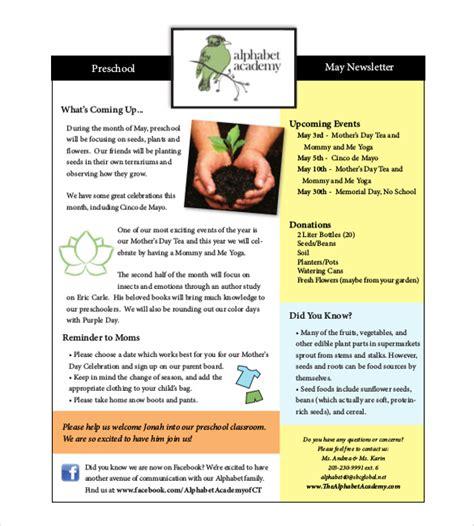 10 preschool newsletter templates free sample example 667 | Preschool Newsletter Samples