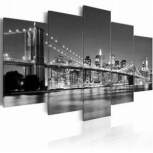 New York Leinwand : modernes wandbild 030211 51 200x100 5 teilig real ~ Markanthonyermac.com Haus und Dekorationen