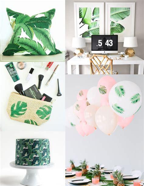 tropical leaf diy ideas tell and