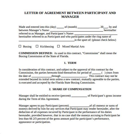 letter  agreement templates