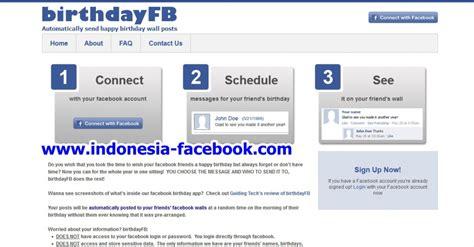 kirim ucapan selamat ulang  otomatis  facebook  cms