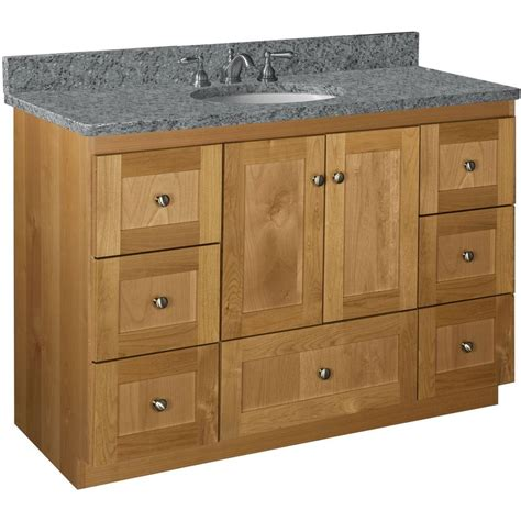 vanity cabinets without tops simplicity by strasser shaker 48 in w x 21 in d x 34 5