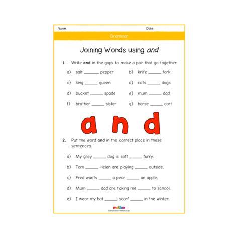 grammar y1 worksheets ks1 melloo