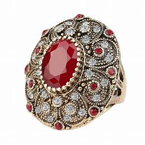 Fashion Vintage Jewelry Rings Unique Plated Ancient Gold ...