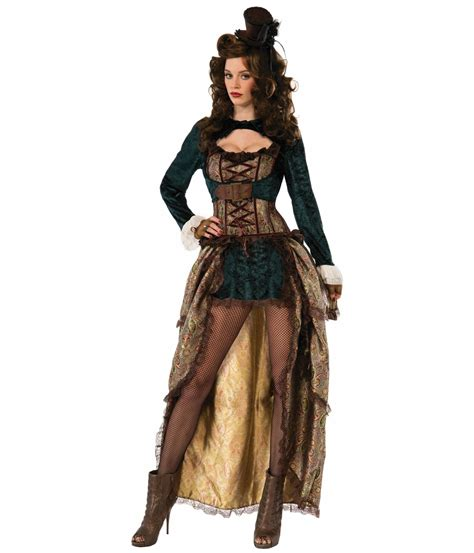 Madame Steampunk High low Costume Dress - Steampunk Costumes