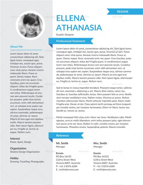 personality descriptions for resumes personality resume template by hermeneutic graphicriver