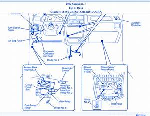 Suzuki Xl-7 4x4 2003 Dash Fuse Box  Block Circuit Breaker Diagram