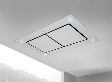kitchen island exhaust hoods 100cm designer white glass ceiling extractor with